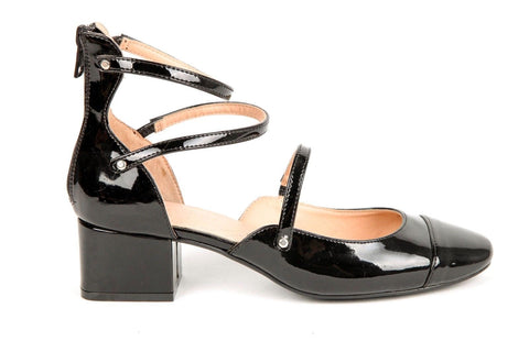 1578cf6af74 ZARA Mary Jane Black Patent Leather Block Heels