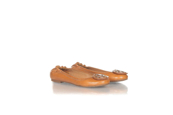 TORY BURCH Round Toe Leather Ballet Flats Size 5