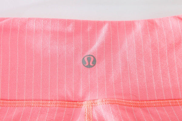 Lululemon Wunder Under Cropped Pink Coral Pants Size 6