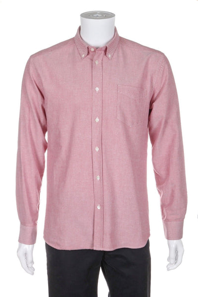 SATURDAYS Surf NYC Red Button Down Oxford Shirt Size L