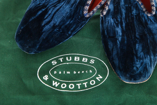 STUBBS & WOOTOON Artist/Proof Loafers Blue Velvet Size 8.5