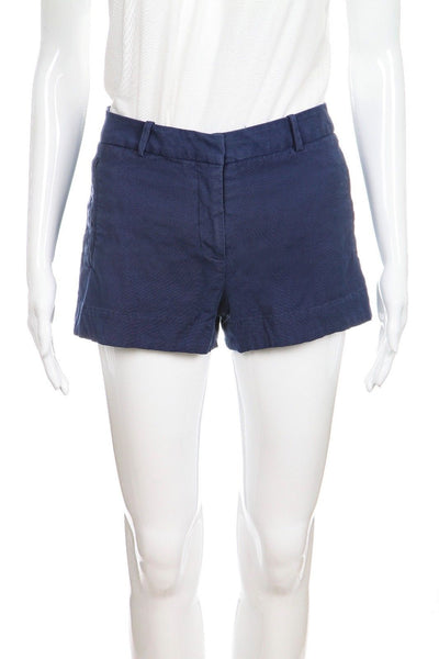 L'AGENCE Blue Welted Pockets Shorts Size 4