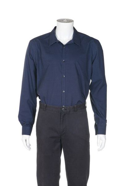 CALVIN KLEIN Non-Iron Gingham Slim Fit Shirt - alternate view
