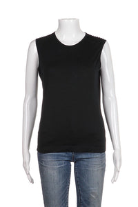 JIL SANDER black Sleeveless Tan Top Size L