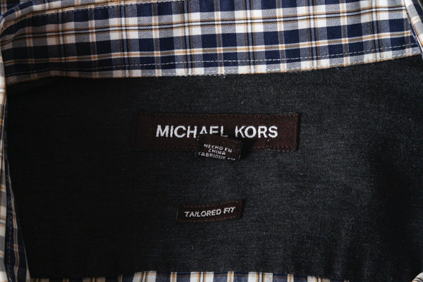 MICHAEL KORS Plaid Dress Shirt - tag