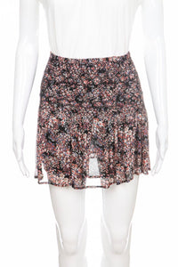 ULLA JOHNSON Mini Flared Floral Silk Skirt Size 0