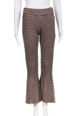 ZARA Knit Flared Metallic Pants Size S