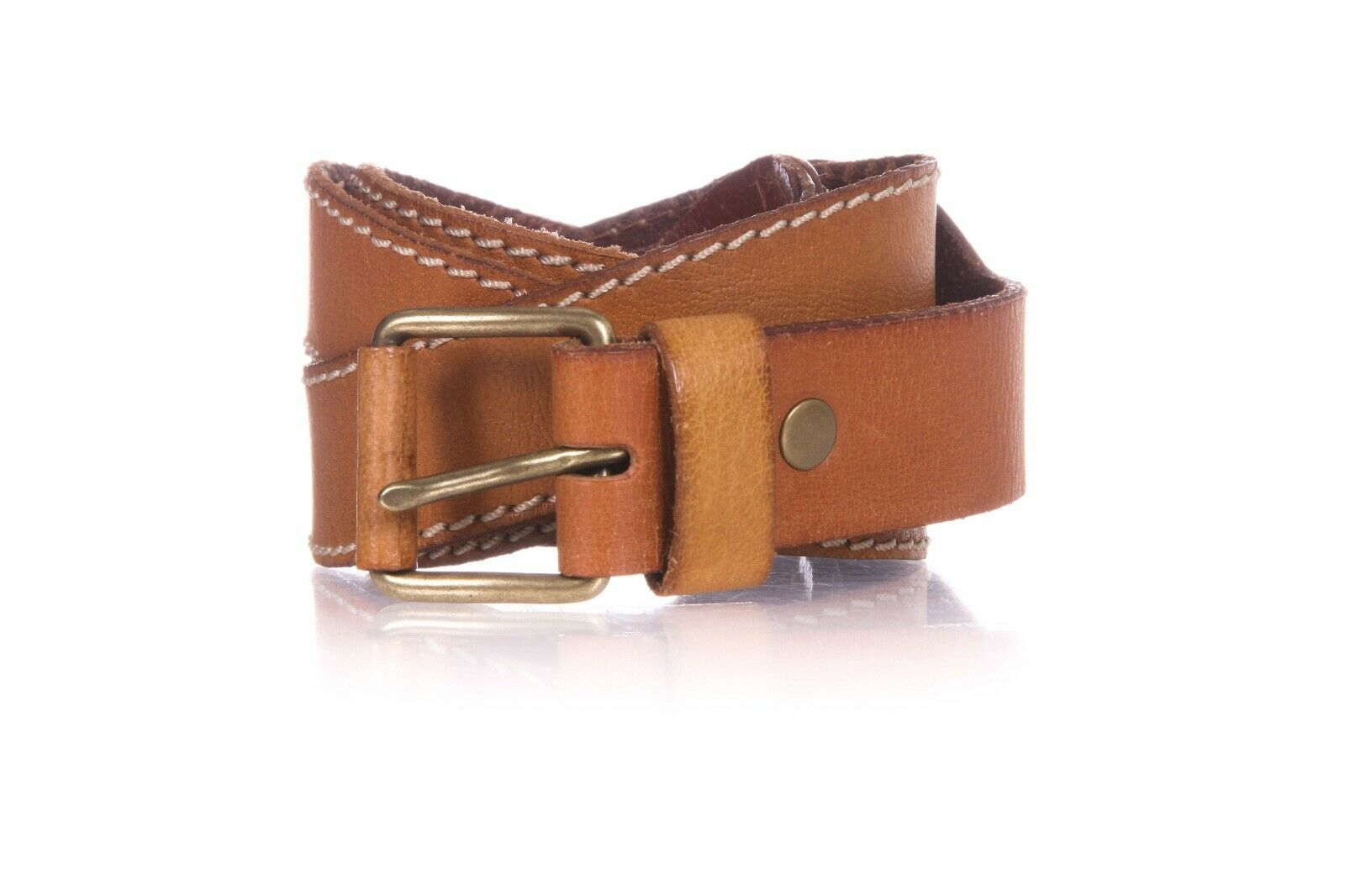 LINEA PELLE Leather Waist Belt Size L