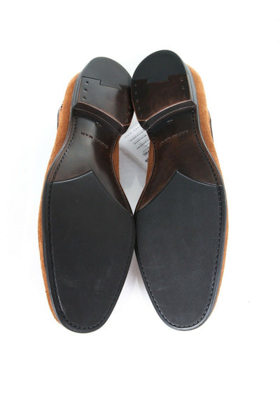 ZARA MAN Brown Suede Leather Loafers Shoes Tassels Size 9