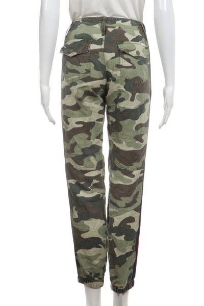 MOTHER The No Zip Misfit Green Camo Jogger Pants Size 25