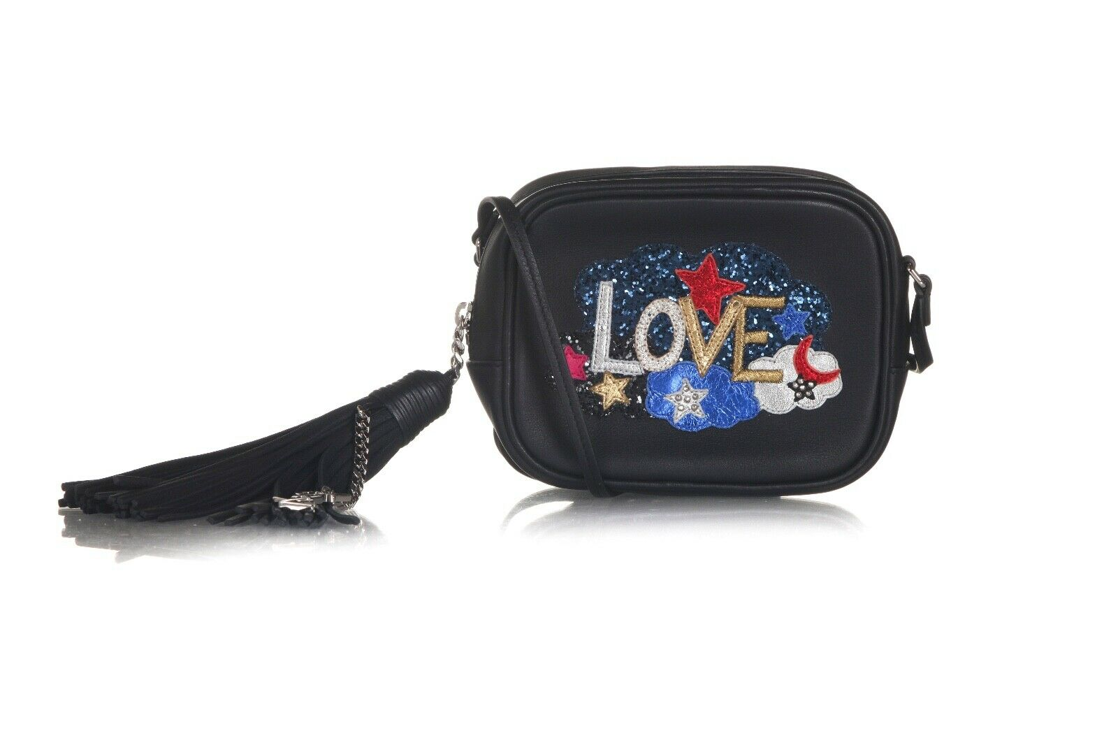 SAINT LAURENT Love Sequin Patchwork Blogger Bag (New)
