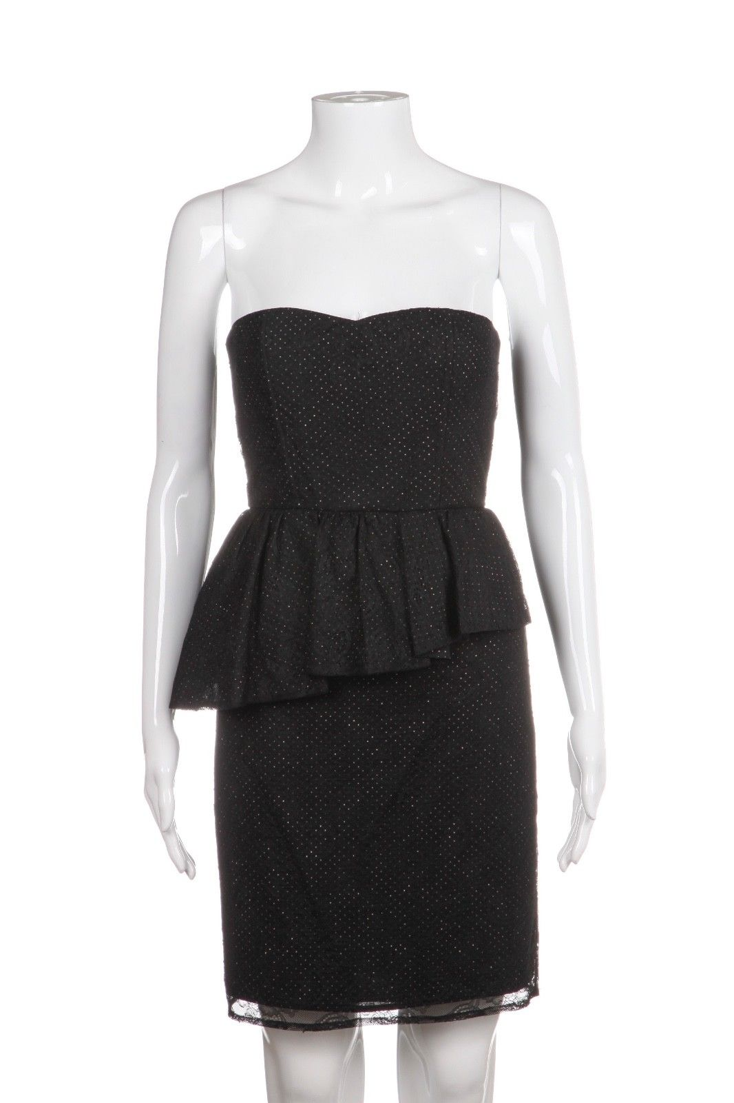ALICE + OLIVIA Strapless Peplum Dress Size 4 (New)