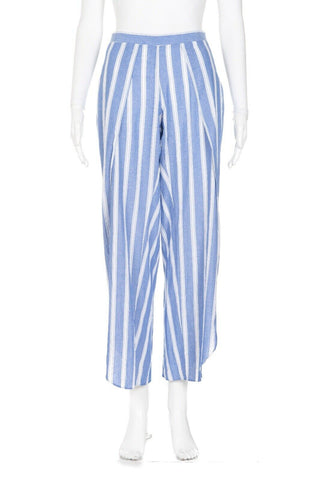 DREW Striped Loose Side Slit Ankle Pants Size S