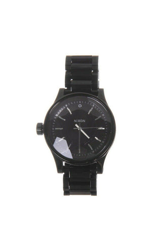 Black The Facet Stainless Steal Watch