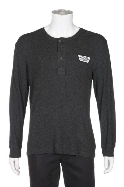 VANS Long Sleeve Knit Henley Tee Size L
