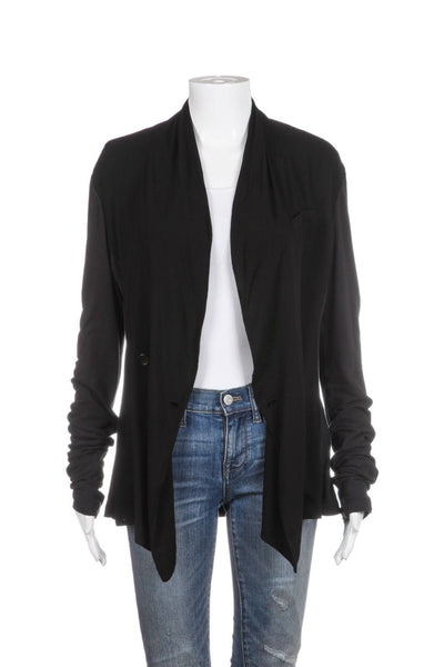JAMES PERSE Draped Cardigan Jacket Black Size 2 (Medium)