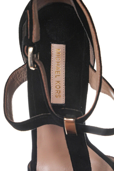MICHAEL KORS Ankle Strap Suede Platform Sandals - inside view