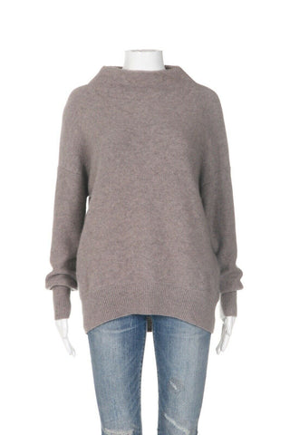 VINCE Mock Neck 100% Cashmere Sweater Size M