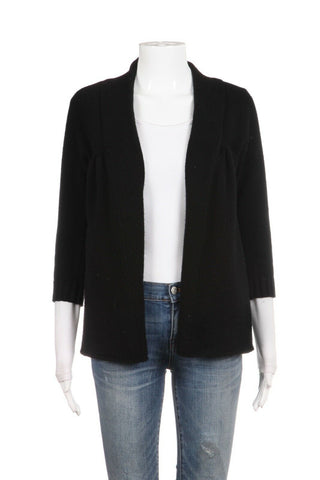 VINCE Black Open Cardigan Top 100% Cashmere Size S