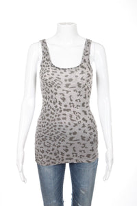 CURRENT/ELLIOTT Animal Print Gray Tank Top Size S