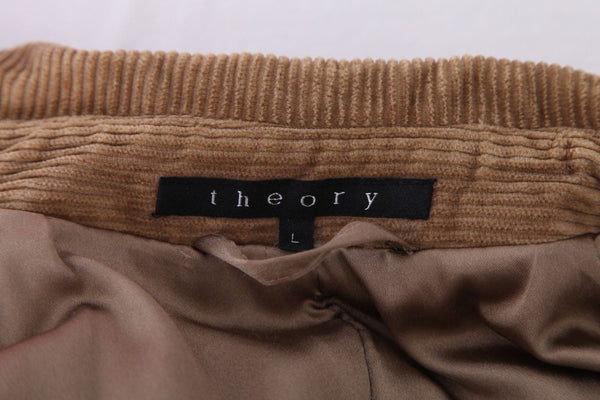 THEORY Long Peacoat Thick Corduroy Jacket Size L