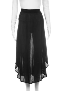 AMUSE SOCIETY Corsica Black Sheer Flowy Skirt Size S (New)