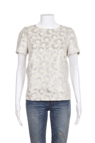 WEEKDEND MAX MARA Short Sleeve Top Size 6