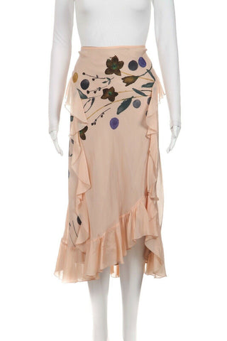 DRIES VAN NOTEN Silk Skirt Size 38 (M)