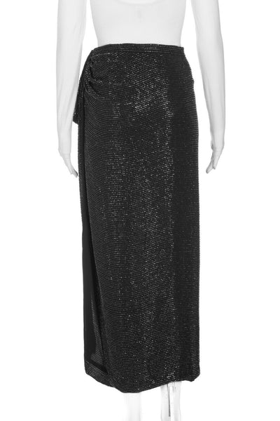 DONNA KARAN Embellished Wrap Skirt Size M