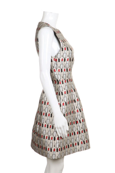 ALICE + OLIVIA Structured Lipstick Print Dress Size 10