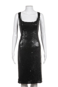 VICTOR COSTA Sequin Embellished Dress Size 8