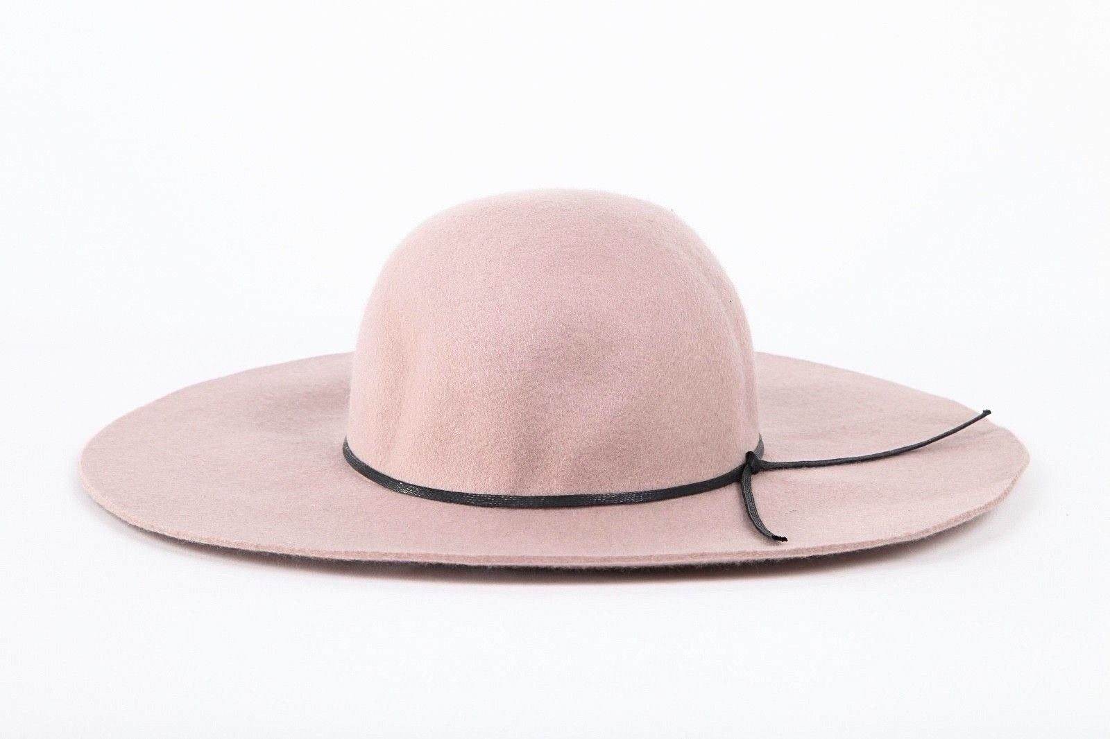 BP. Taupe Floppy Sun Hat With Black Ribbon Accent