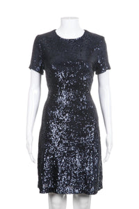 TORY BURCH Sequin Short Sleeve Cocktail Dress Size M