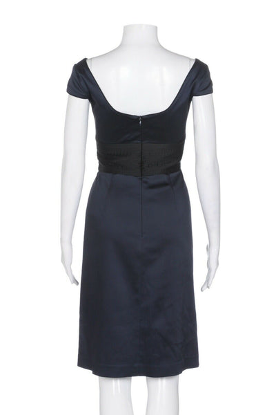 KAY UNGER Satin Cocktail Dress Size 6