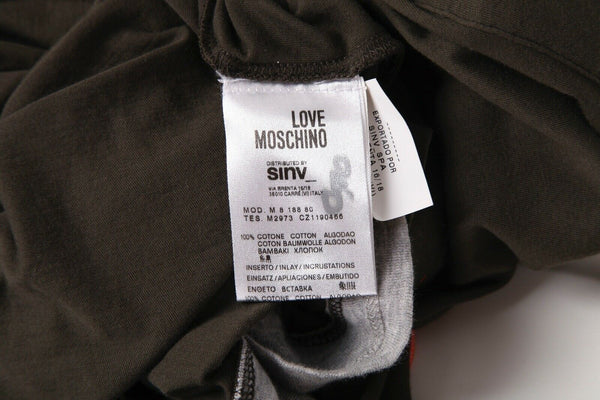 LOVE MOSCHINO Long Sleeve Henley Polo Tee Size S
