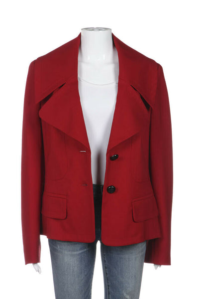 ESCADA Blazer Jacket Large Collar Size IT42 (12)
