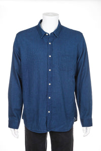 J.CREW Indigo Button Down Shirt Size XL (New)