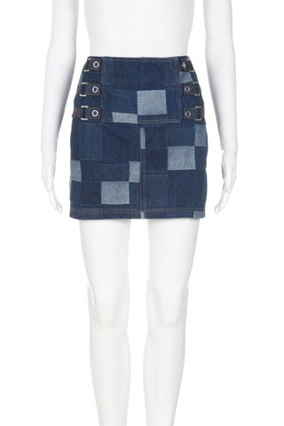 OPENING CEREMONY Tap Patchwork Denim Skirt Size 8