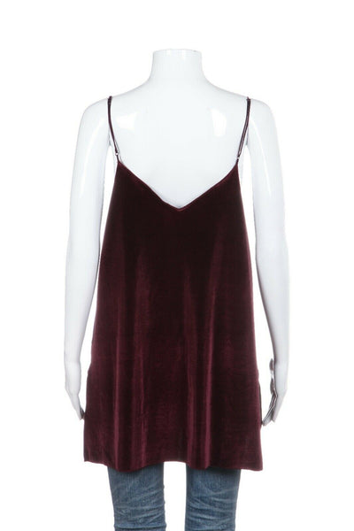 FREE PEOPLE Velour Cami Top Size L