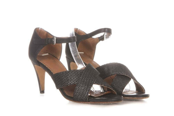 M MISSONI Leather Strappy Sandals Size 37