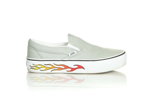 VANS Slip On Flame Sidewall Sneakers Size 9.5