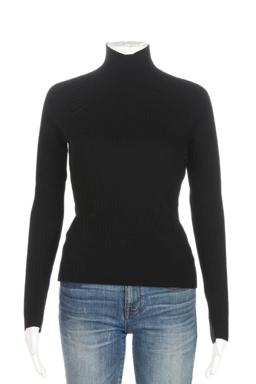 ELIE TAHARI Ribbed Mock Neck Sweater Size S