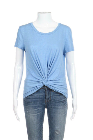AQUA Short Sleeve Knotted Tee Size S