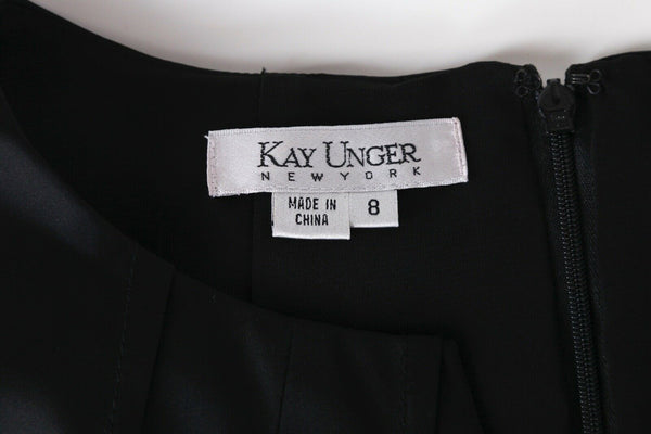 KAY UNGER Satin Cocktail Dress Size 8