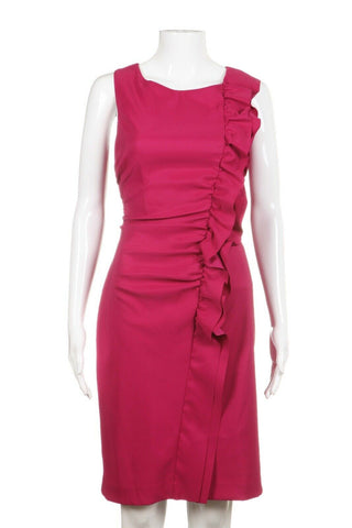 KAY UNGER Ruffled Cocktail Dress Size 10 (New)