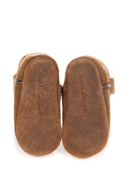Ralph Lauren Layette Marlow Suede Baby Infant Boots Size 3