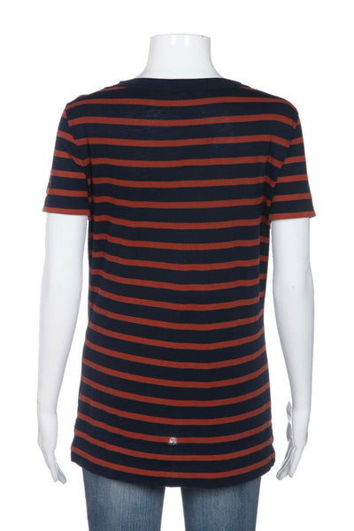 TORY BURCH Short Sleeve Striped Tee Size S