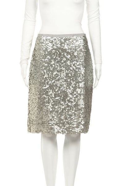 J.CREW Sequin Embellished Pencil Skirt Size 10 (New)