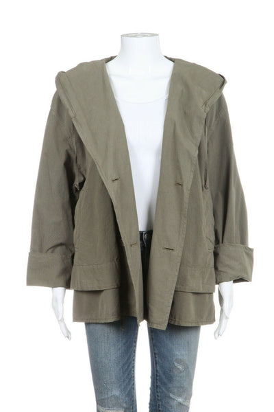 Green Oversized Hooded Coat Size 1 (S)