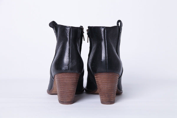 MADEWELL Black Billie Ankle Boots Booties Size 6.5